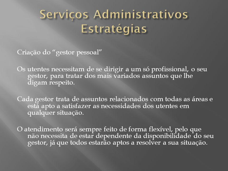Serviços Administrativos Estratégias