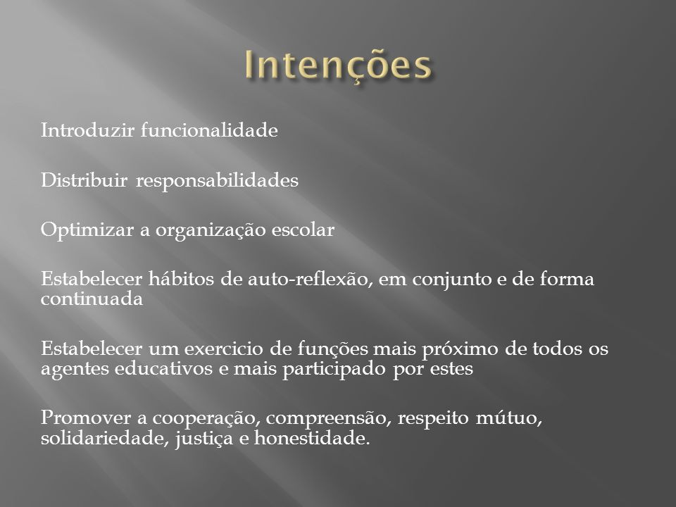 Intenções