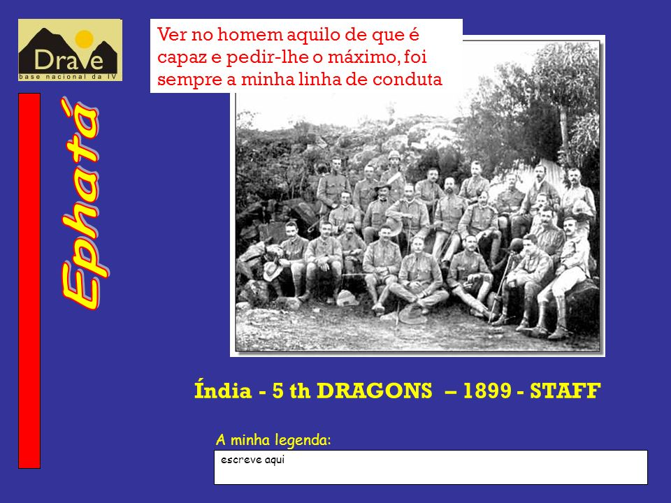 Índia - 5 th DRAGONS – 1899 - STAFF
