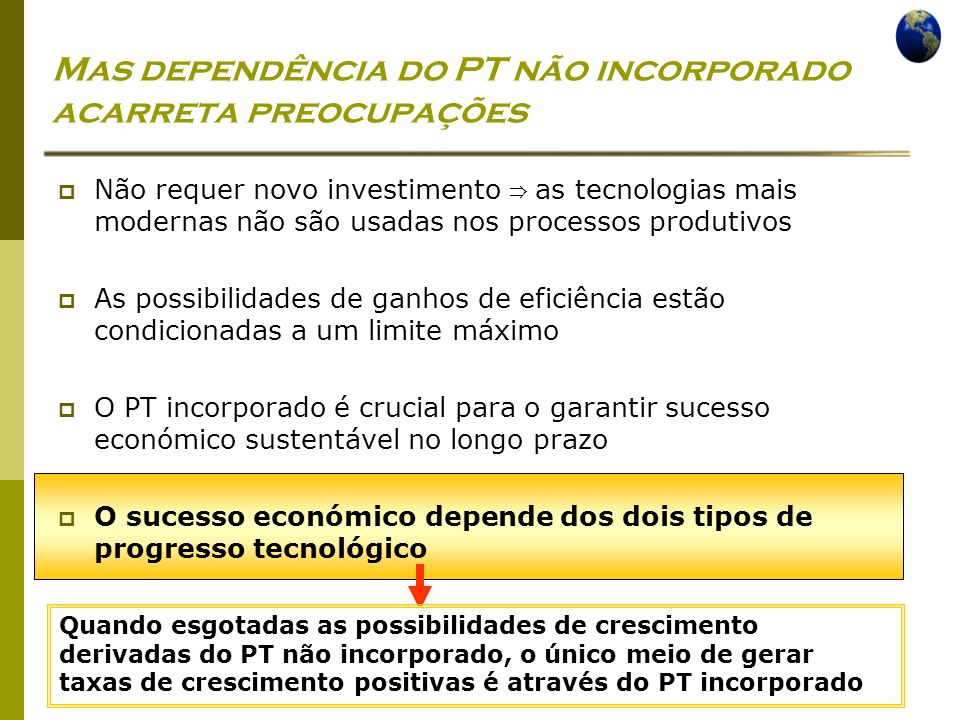 Mas dependência do PT não incorporado acarreta preocupações
