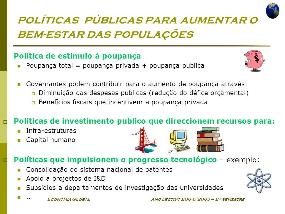 políticas públicas para aumentar o bem-estar das populações