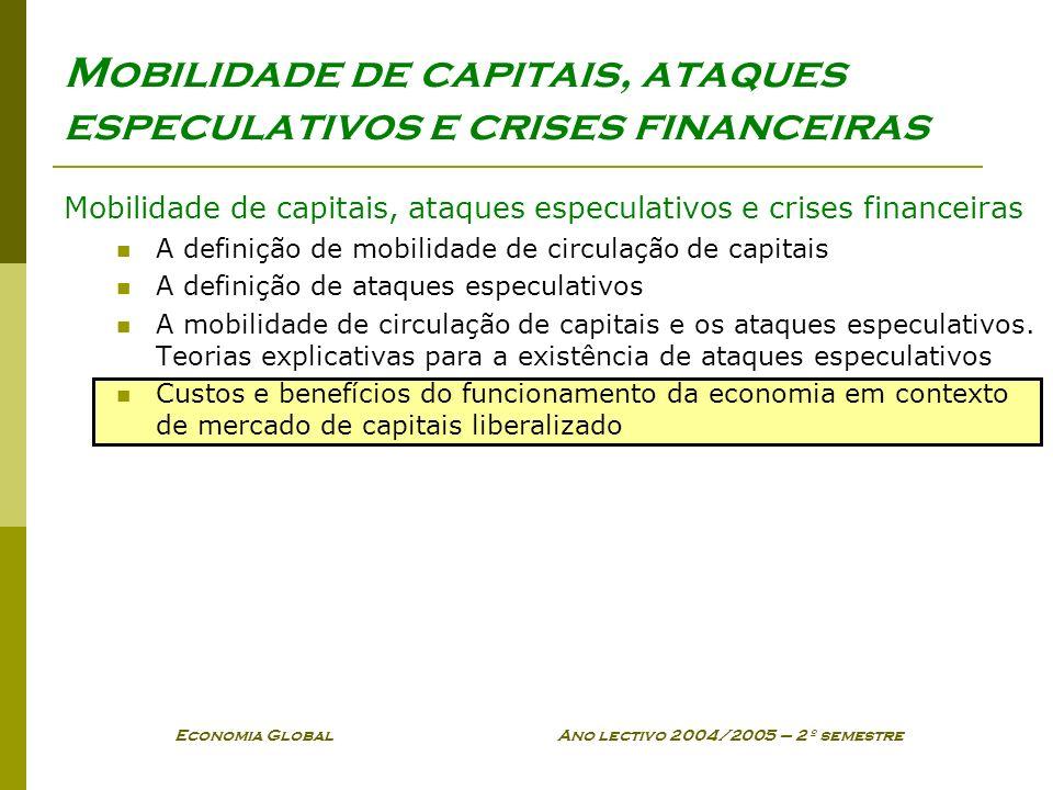 Mobilidade de capitais, ataques especulativos e crises financeiras
