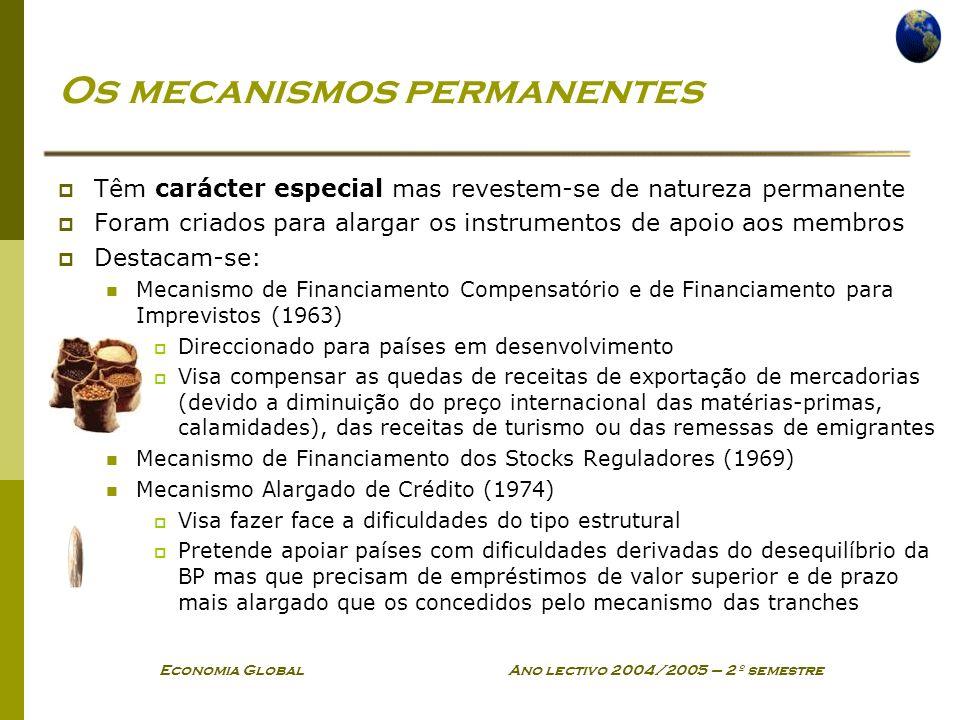 Os mecanismos permanentes