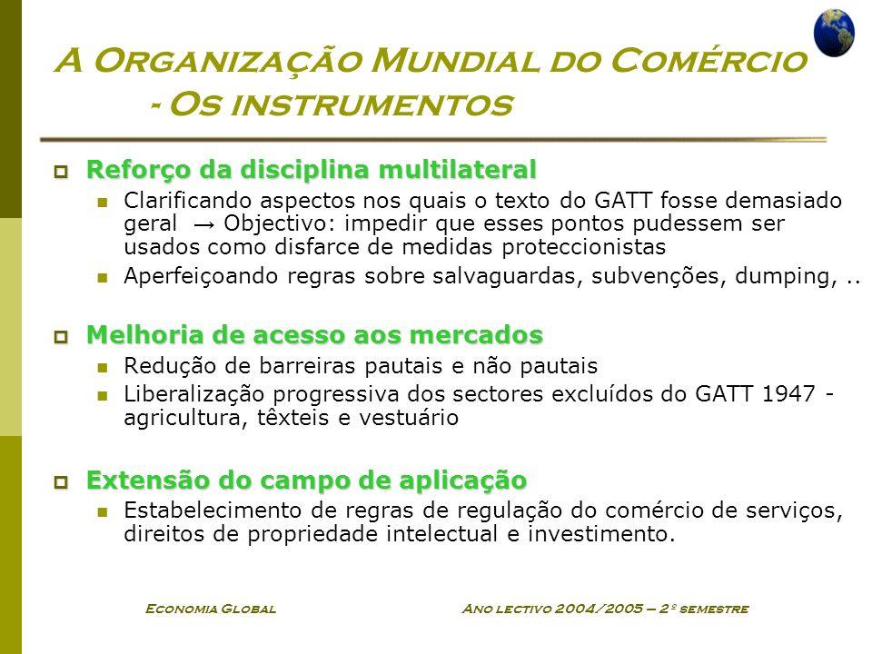 A Organização Mundial do Comércio - Os instrumentos