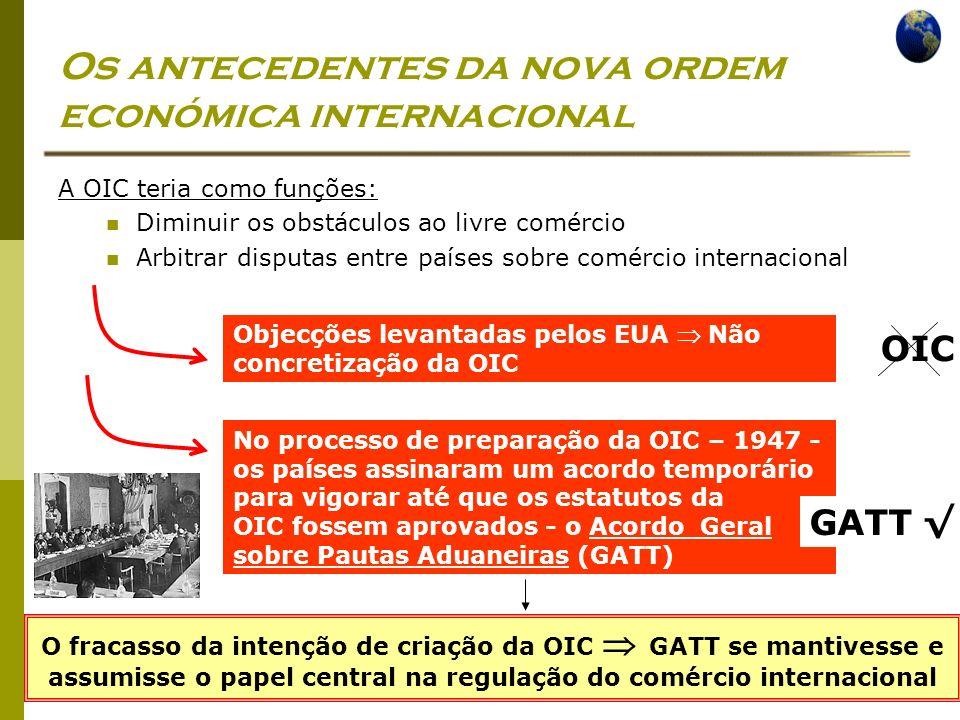 Os antecedentes da nova ordem económica internacional
