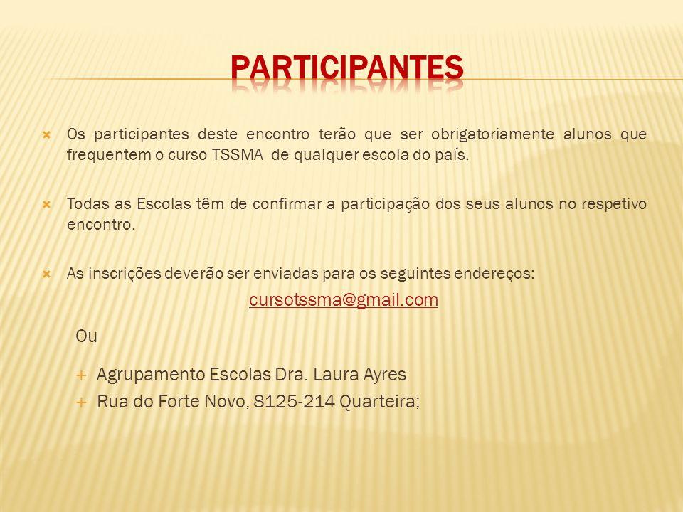 Participantes cursotssma@gmail.com Ou