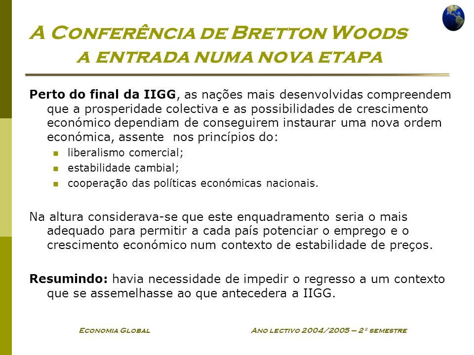 A Conferência de Bretton Woods a entrada numa nova etapa