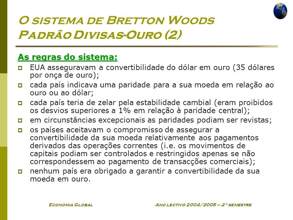 O sistema de Bretton Woods Padrão Divisas-Ouro (2)