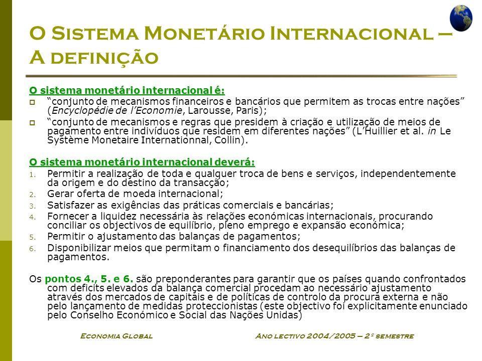 O Sistema Monetário Internacional – A definição