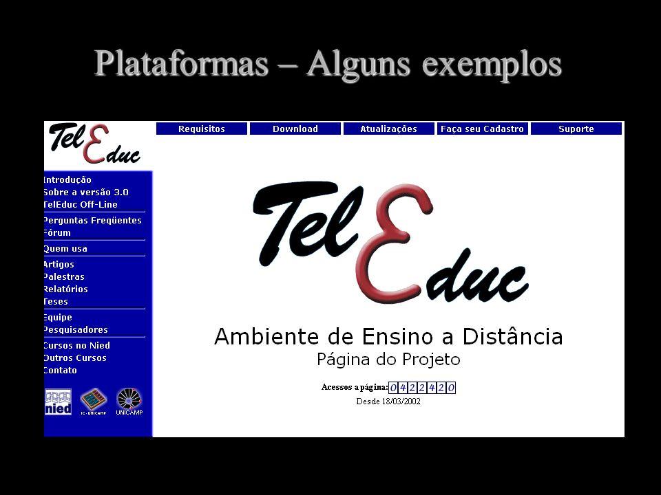 Plataformas – Alguns exemplos