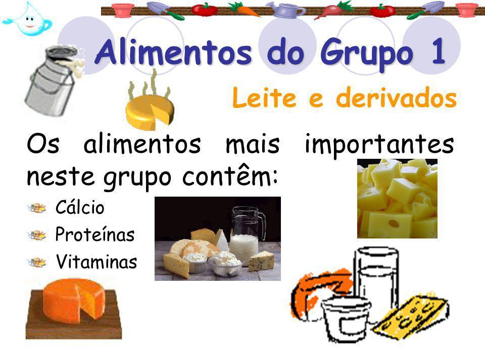 Alimentos do Grupo 1 Leite e derivados