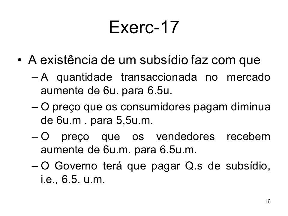 Exerc-17 A existência de um subsídio faz com que