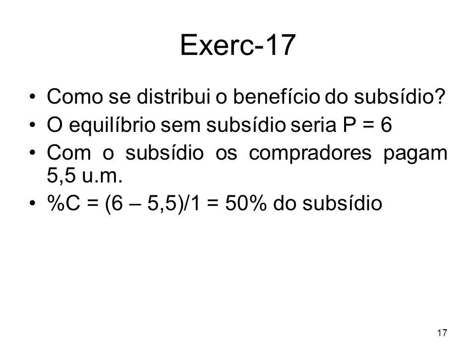 Exerc-17 Como se distribui o benefício do subsídio
