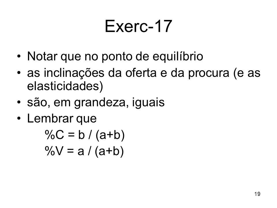 Exerc-17 Notar que no ponto de equilíbrio