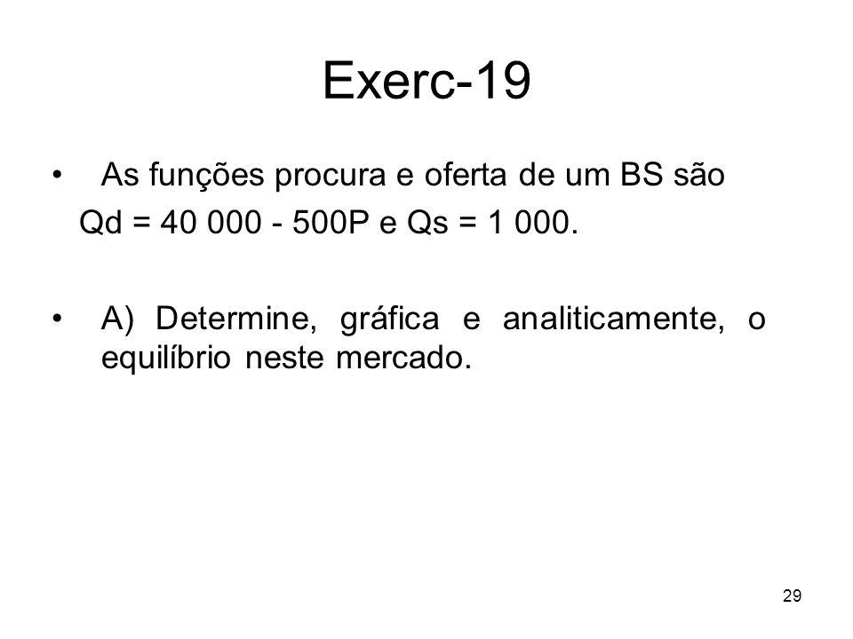 Exerc-19 As funções procura e oferta de um BS são