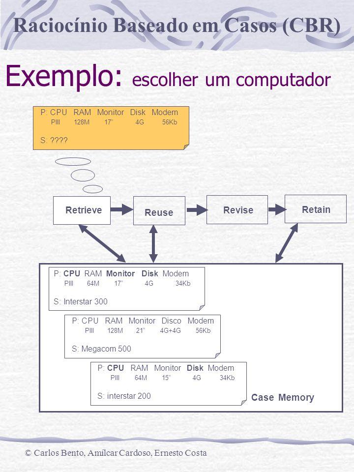 Exemplo: escolher um computador