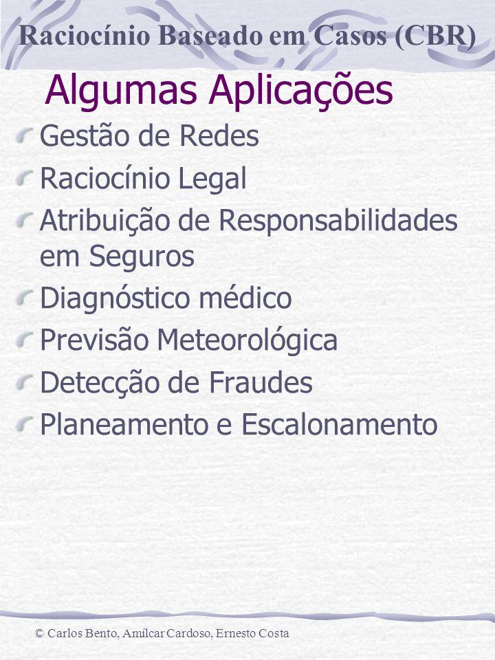 Algumas Aplicações Gestão de Redes Raciocínio Legal