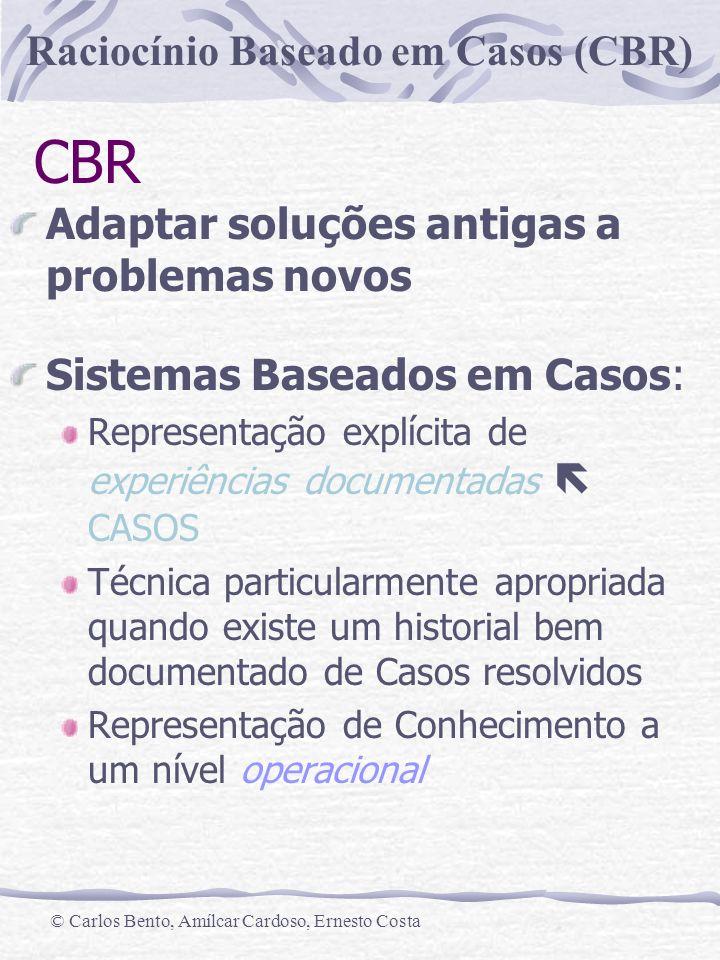CBR Adaptar soluções antigas a problemas novos