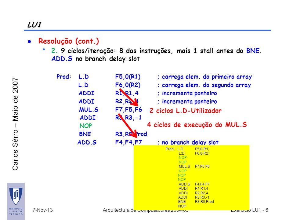 Arquitectura de Computadores 2004/05