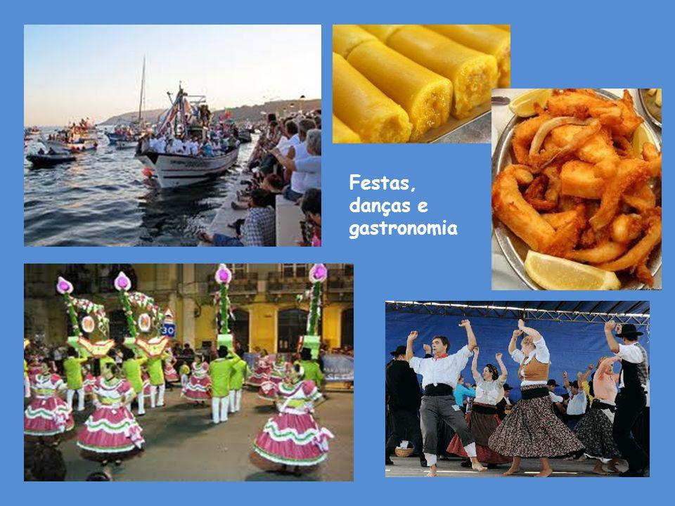Festas, danças e gastronomia