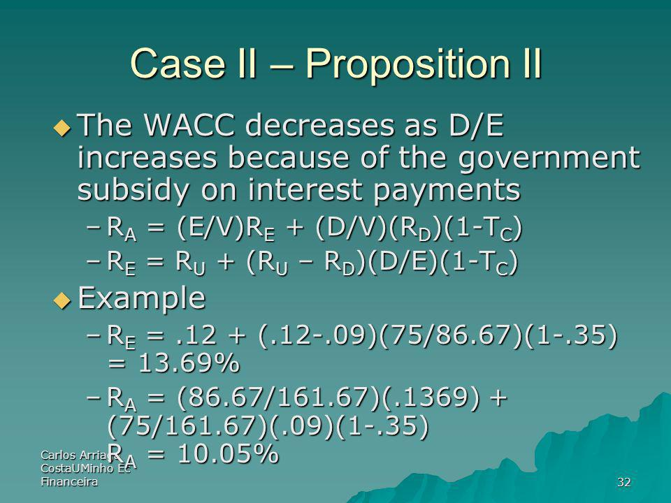 Case II – Proposition II