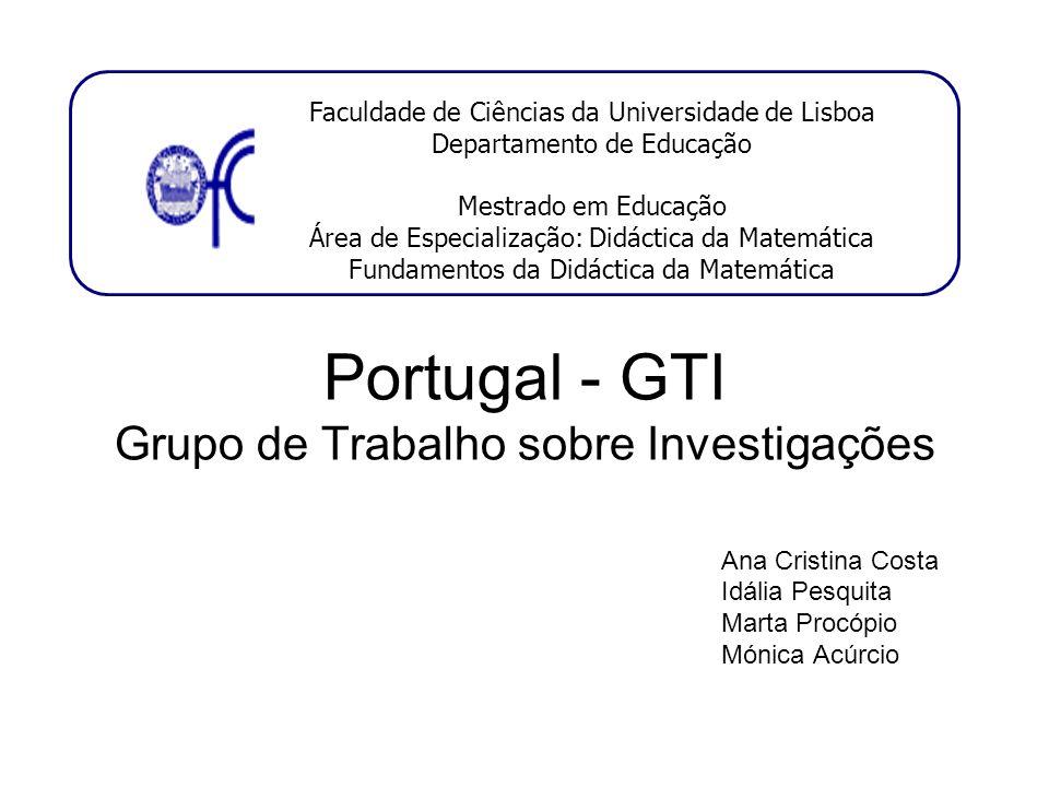 Portugal - GTI Grupo de Trabalho sobre Investigações
