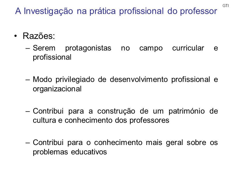 A Investigação na prática profissional do professor