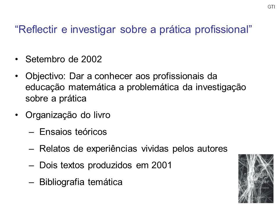 Reflectir e investigar sobre a prática profissional