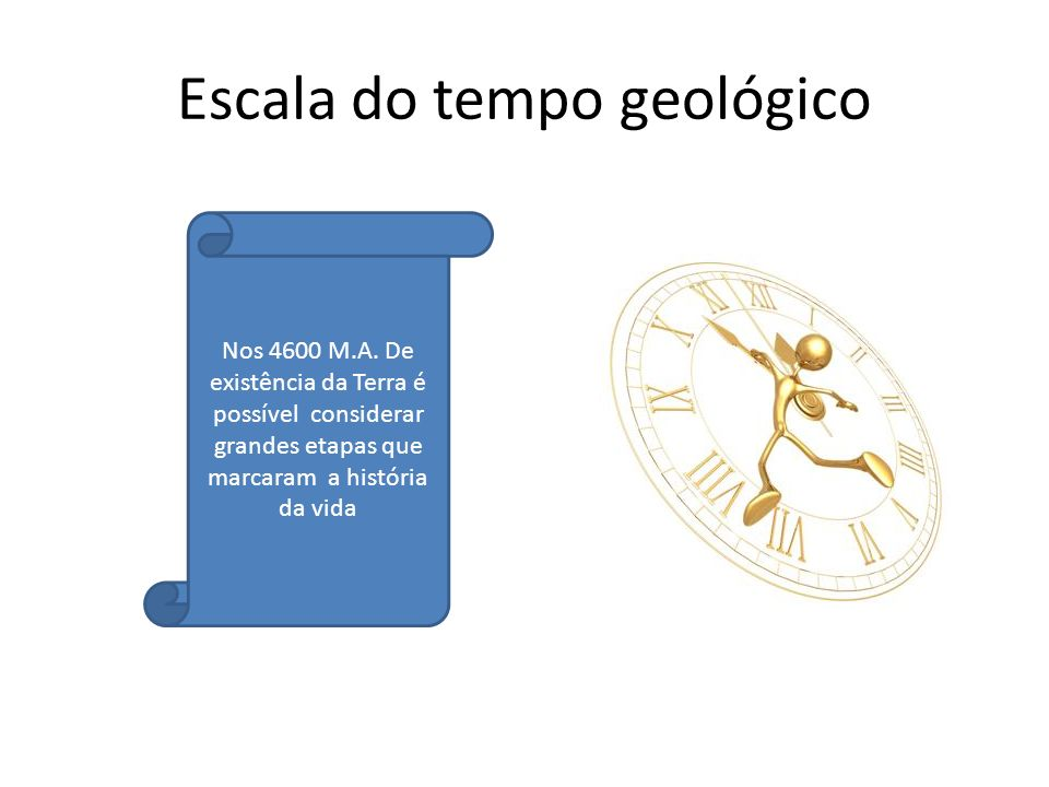 Escala do tempo geológico
