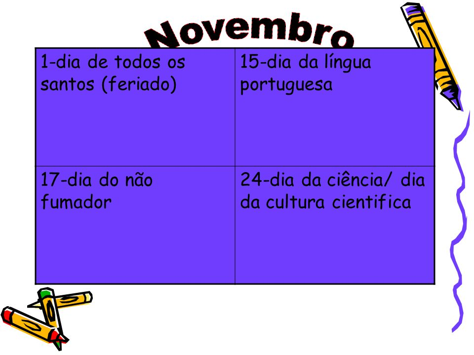Novembro 1-dia de todos os santos (feriado)