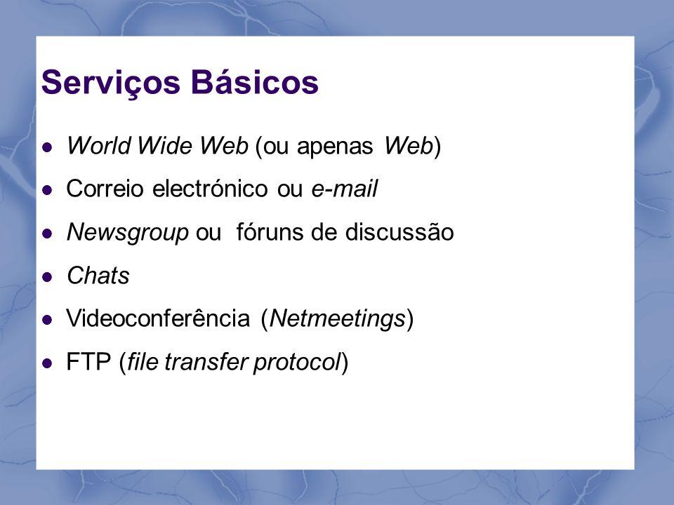 Serviços Básicos World Wide Web (ou apenas Web)