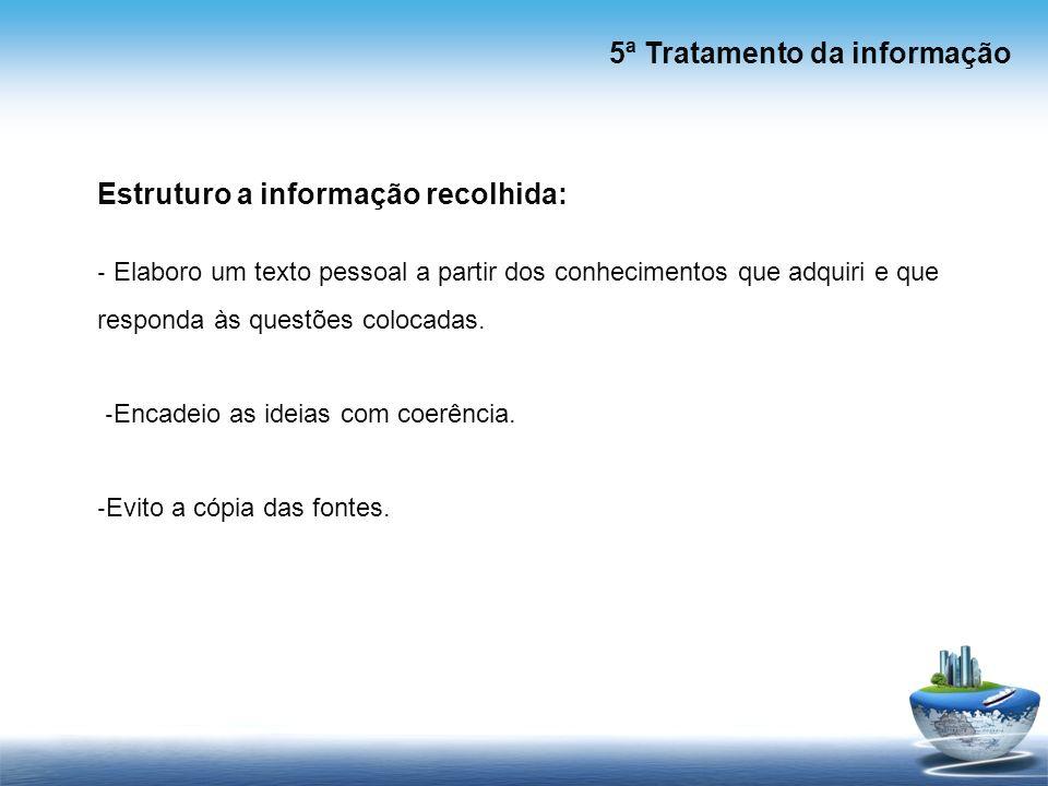 5ª Tratamento da informação