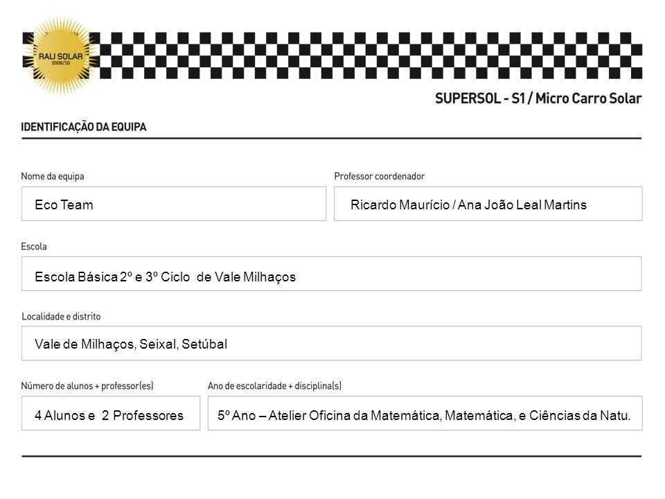 Eco Team Ricardo Maurício / Ana João Leal Martins. Escola Básica 2º e 3º Ciclo de Vale Milhaços. Vale de Milhaços, Seixal, Setúbal.