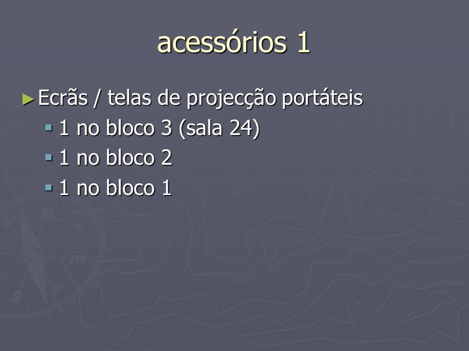 acessórios 1 Ecrãs / telas de projecção portáteis