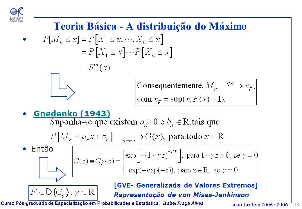 Teoria Básica - A distribuição do Máximo