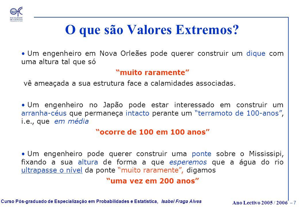 O que são Valores Extremos