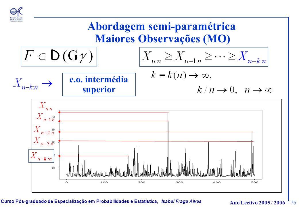 Abordagem semi-paramétrica Maiores Observações (MO)