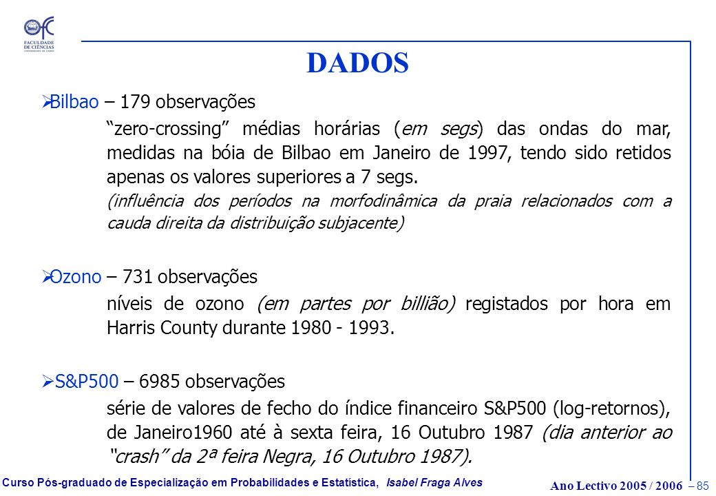DADOS Bilbao – 179 observações