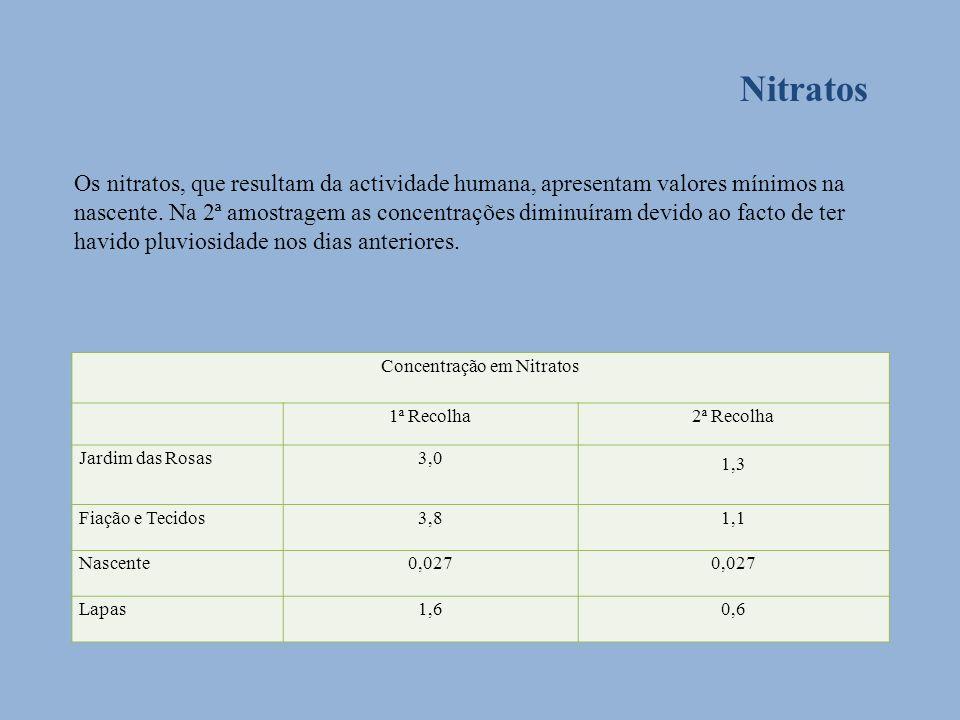 Concentração em Nitratos