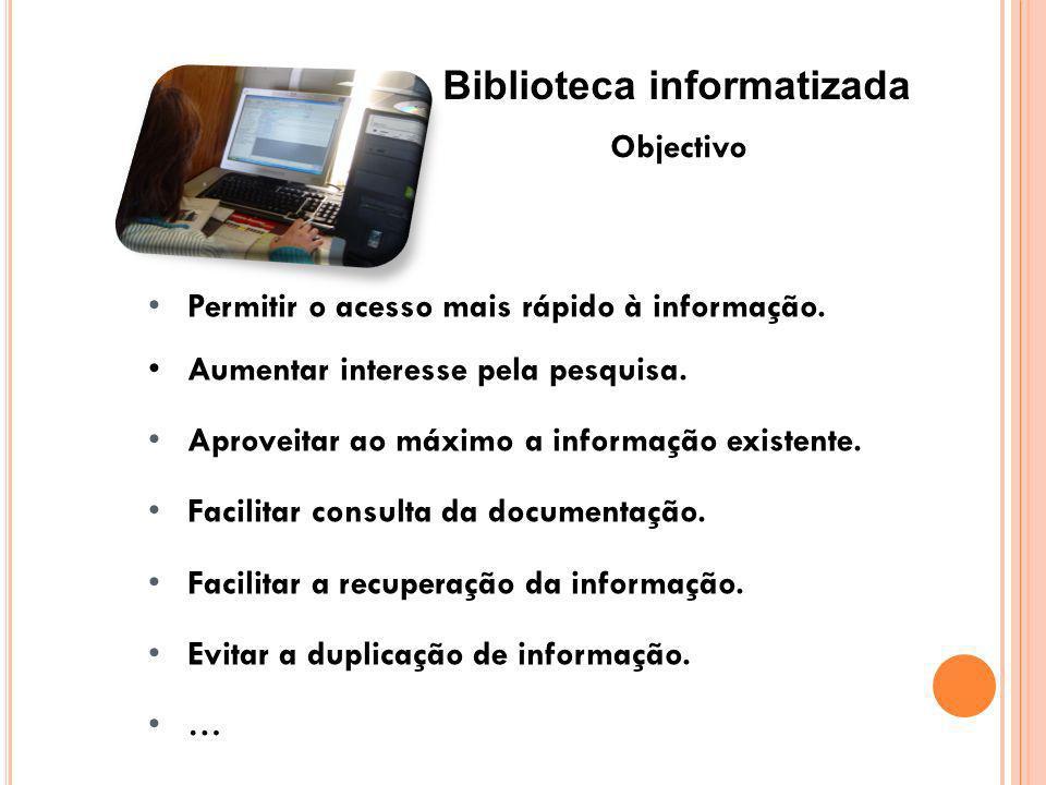 Biblioteca informatizada