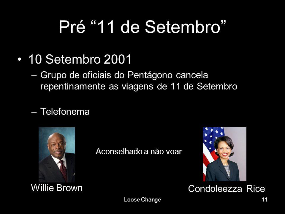 Pré 11 de Setembro 10 Setembro 2001