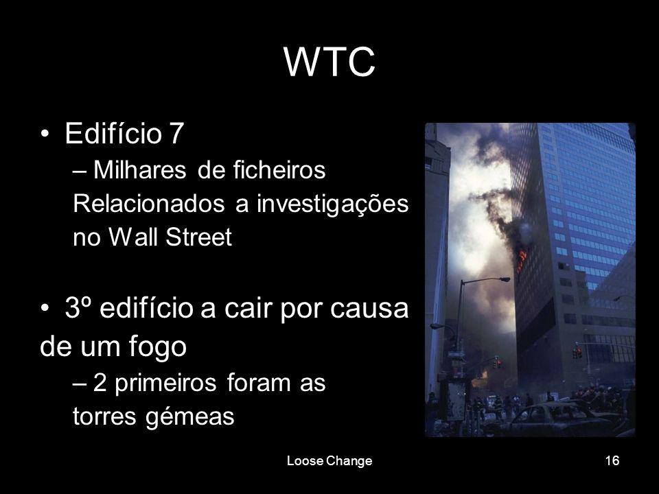 WTC Edifício 7 3º edifício a cair por causa de um fogo
