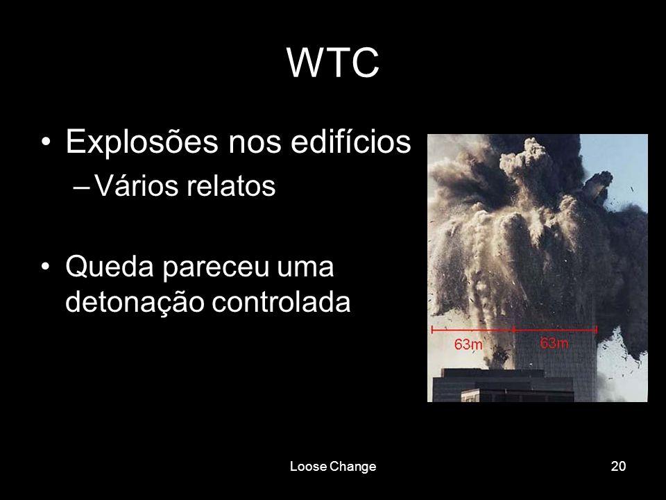 WTC Explosões nos edifícios Vários relatos
