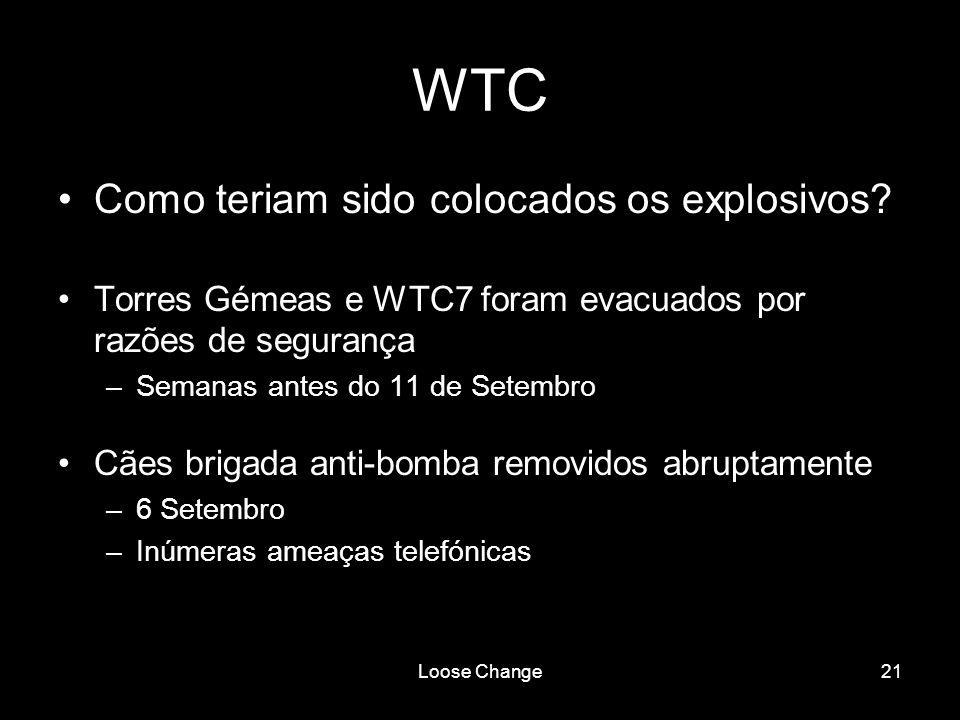 WTC Como teriam sido colocados os explosivos
