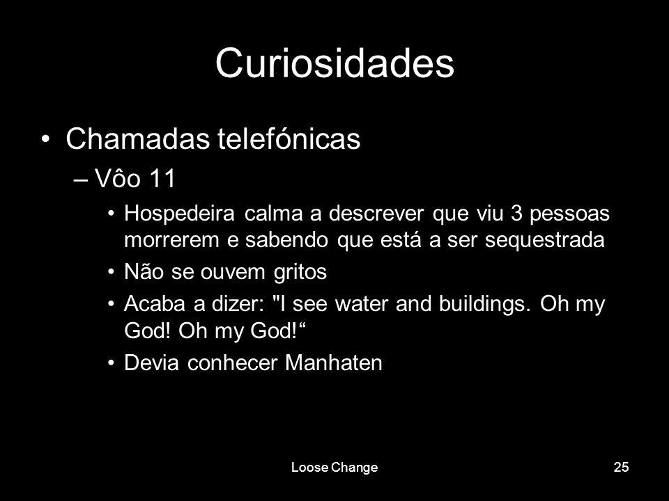 Curiosidades Chamadas telefónicas Vôo 11
