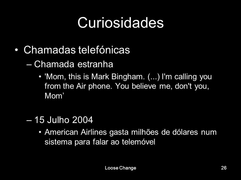 Curiosidades Chamadas telefónicas Chamada estranha 15 Julho 2004