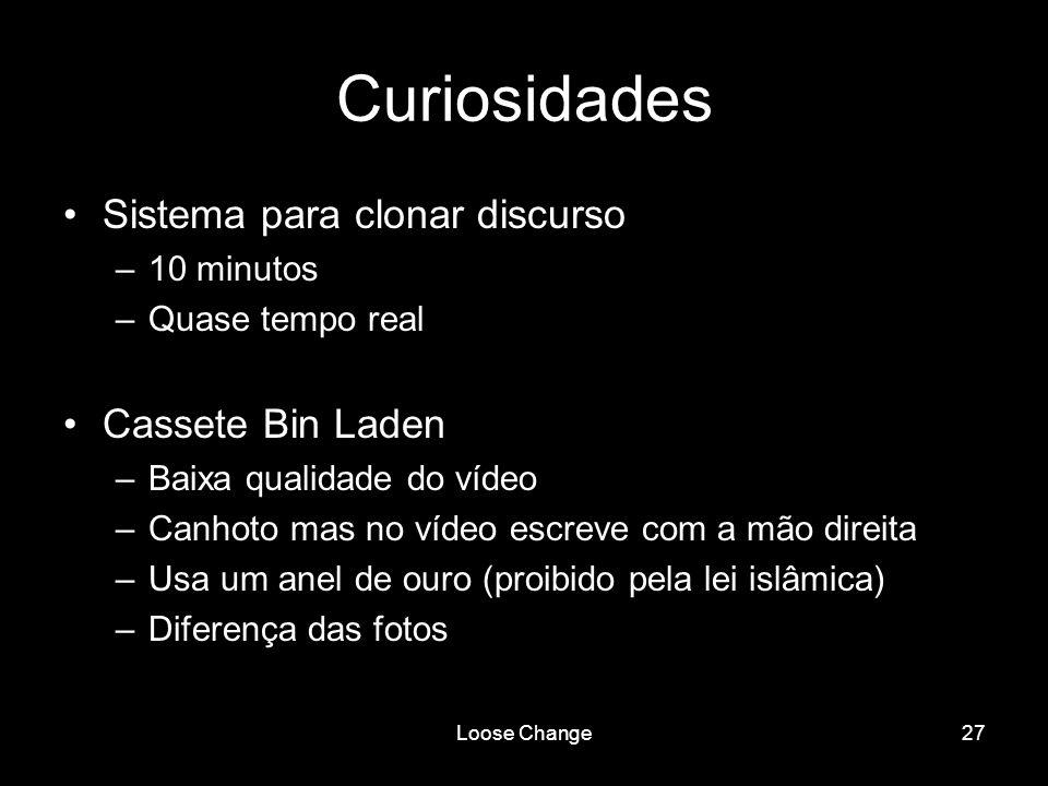 Curiosidades Sistema para clonar discurso Cassete Bin Laden 10 minutos
