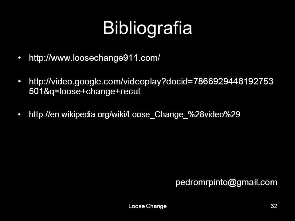 Bibliografia http://www.loosechange911.com/