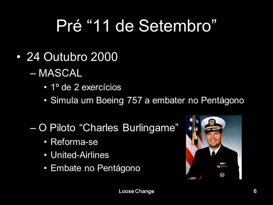 Pré 11 de Setembro 24 Outubro 2000 MASCAL
