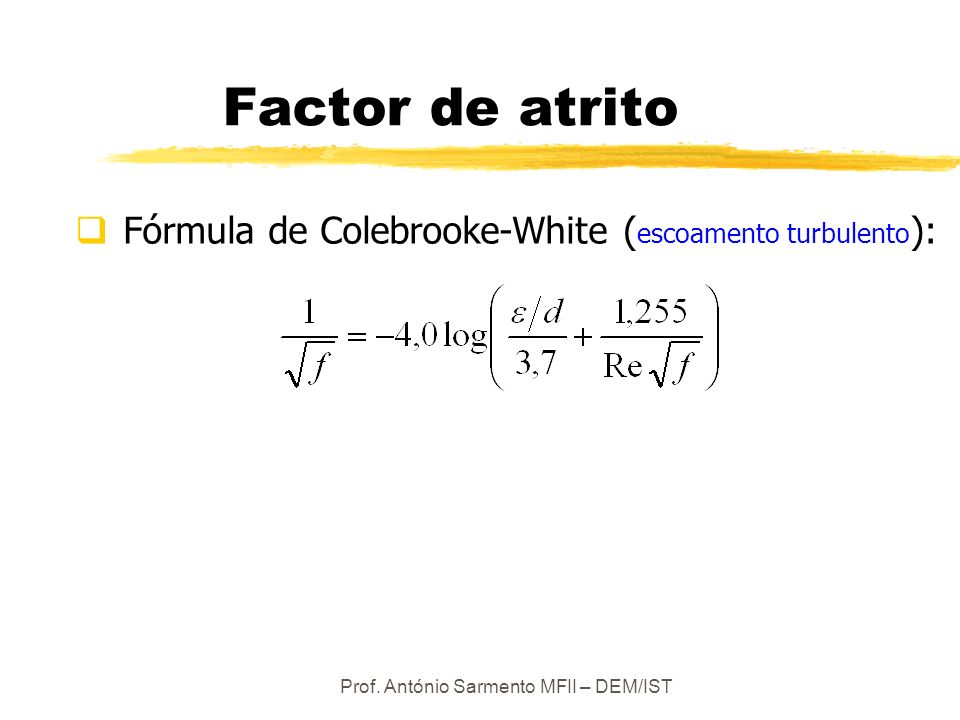 Prof. António Sarmento MFII – DEM/IST